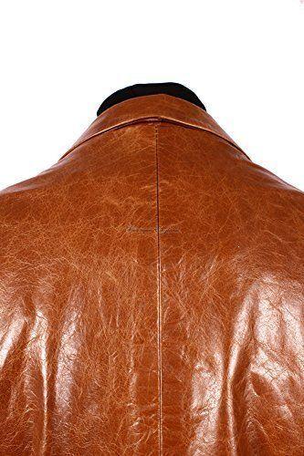 Godzilla Two Button Classic Blazer Men Tan Glazed Cow Delux Hide Leather Jackets