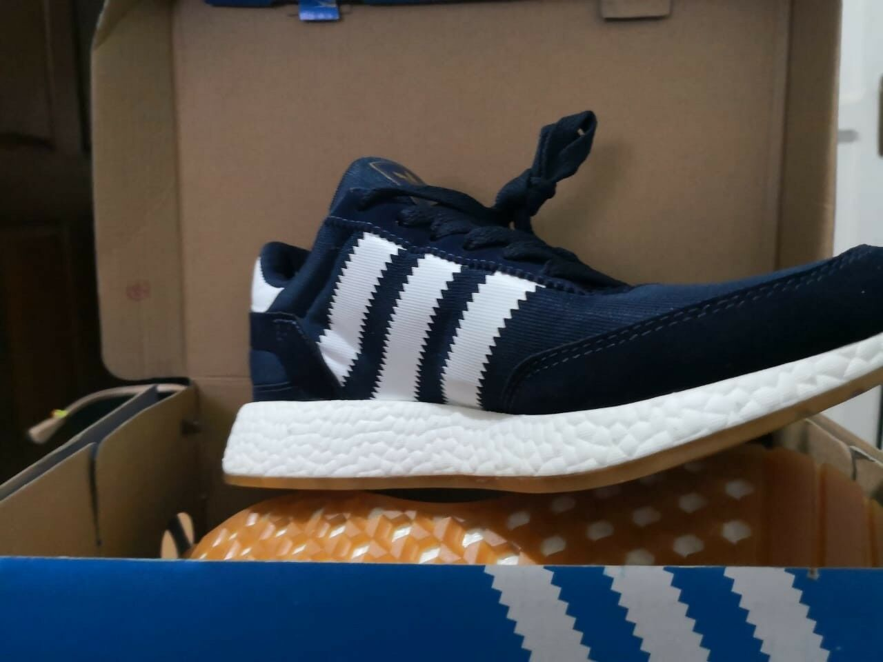ADIDAS INIKI COLLEGIATE NAVY BLUE / WHITE NEW IN BOX MANY SIZES!!!