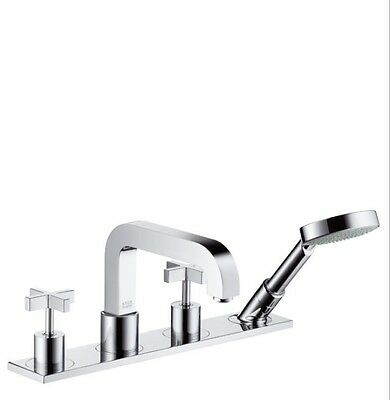 Hansgrohe 39456821 Axor Citterio Roman Tub Faucet Trim w/ Hand Shower BR NICKEL