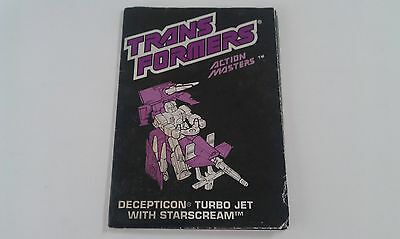 Transformers G1 STARSCREAM action master instructions book manual USA