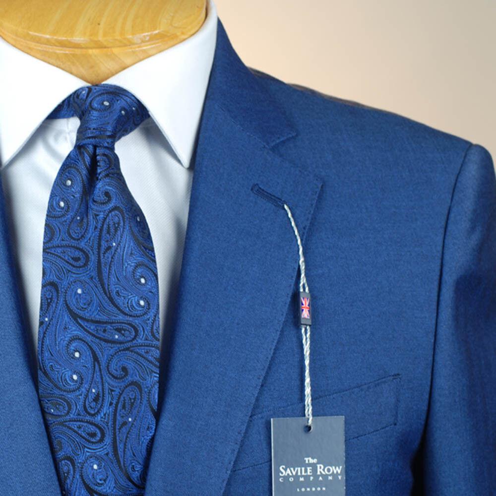 46R SAVILE ROW Indigo bluee SUIT SEPARATE  46 Regular Mens Suits - SS45