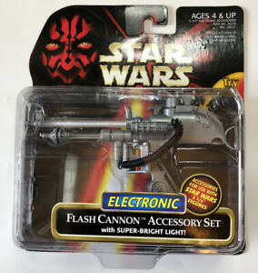 NEW-Star-Wars-Episode-I-Electronic-Flash-Cannon-Accessory-Set-Hasbro-1999