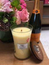 Woodwick Lemongrass & Lily Jar Candle, Large 21oz BURNS 180+ HRS!
