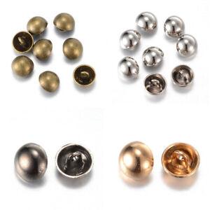 20PCS-Alloy-Shank-Buttons-1-Hole-Half-Round-Platinum-Sport-Woolen-Coats-Buttons