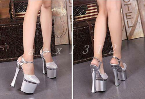 Lady Womens Super High Platform Club Pole Pole Pole Dancing Heels Wedding Dress shoes 2019 ff1c79