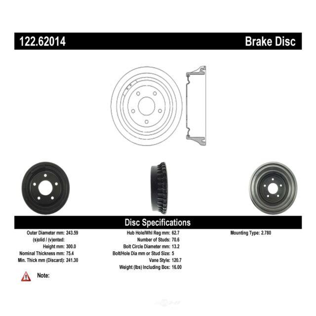 Rear Top Quality Brake Drum Stirling 8839