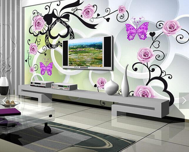 3D Exotische Natur 243 Fototapeten Wandbild Fototapete BildTapete Familie