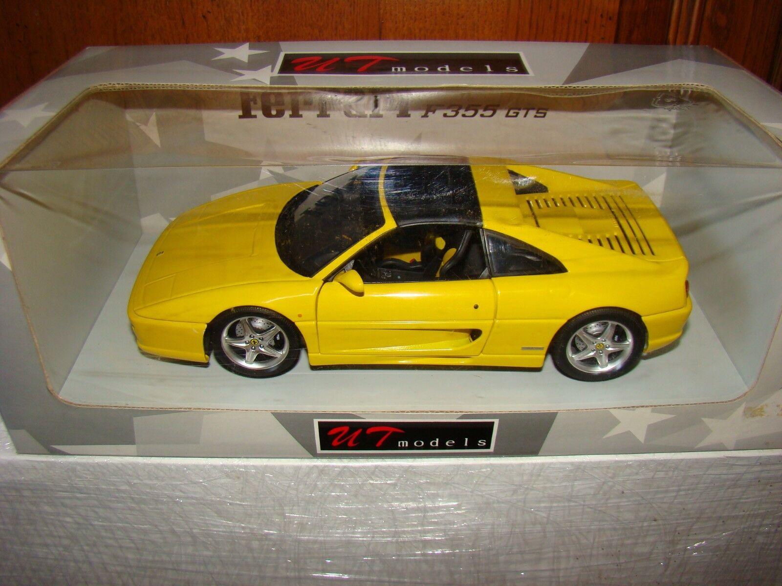 FERRARI 355 GTS UT MODELS amarillo ECHELLE 1 18 EME SOLD OUT súperBE ET RARE