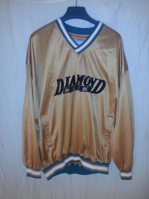 114affe0 ARIZONA DIAMONDBACKS STARTER MLB GOLD JACKET PULLOVER Size XXL NWOT ...