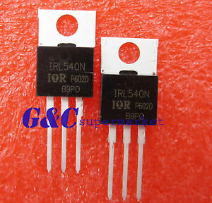 10Pcs New IRL540 IRL540N power MOSFET TO-220 TEUSMWH$