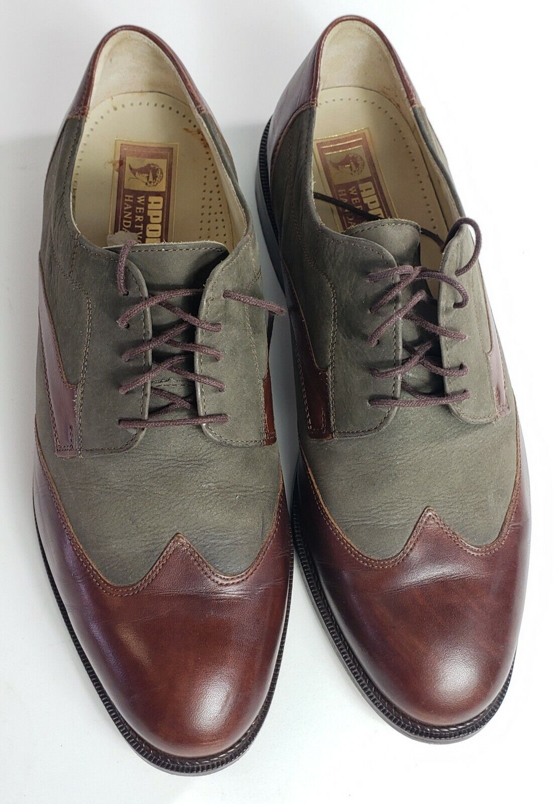 APOLLO WERTVOLLE HANDARBEIT Leather Perforated Brogues Oxford Shoes 10.5