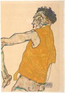 Egon-Schiele-Self-Portrait-in-Yellow-Vest-1914-Fine-Art-Print-Poster