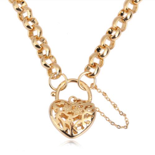 Charmant 18k Or Rempli Coeur Collier Pendentif femme Fashion Jewelry Chain
