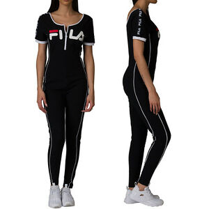 f5d4a69d4c1 NEW Fila High Neck Unitard Legging Jumpsuit With Front Zip LW171XS9 ...