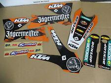 ORANGE JAGER TEAM  GRAPHICS KTM SXF SX  2005 2006 & 2006 2007  XCF XCW  EXC