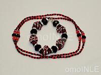 Elegua Ilde Santeria Ifa Orisha Bracelet & Collar Idde Mazo Glass Beads Eshu