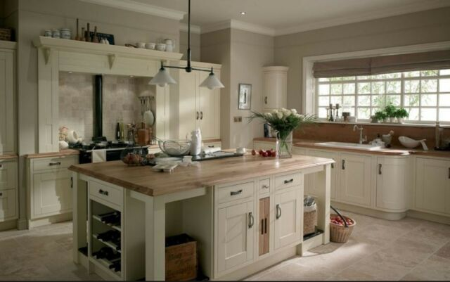 Milton Ivory Painted Oak Kitchen In Frame, Shaker Style, Rigid Built,
