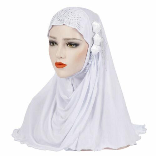 Shawl Hijab Flower Headwear Full Cover Headwrap One Piece Muslim Amira Cap Scarf