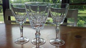 Wine Glasses Chateaudun by CRISTAL D'ARQUES-DURAND 4 7 oz elegant stems