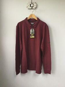 da07f144953f BNWT Men s Barbour International Root (Dark Wine) Long Sleeved Polo ...
