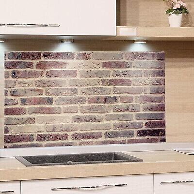 KÜCHENRÜCKWAND Spritzschutz Küche Gehärtetes Glas Rückwand Stein Muster grau