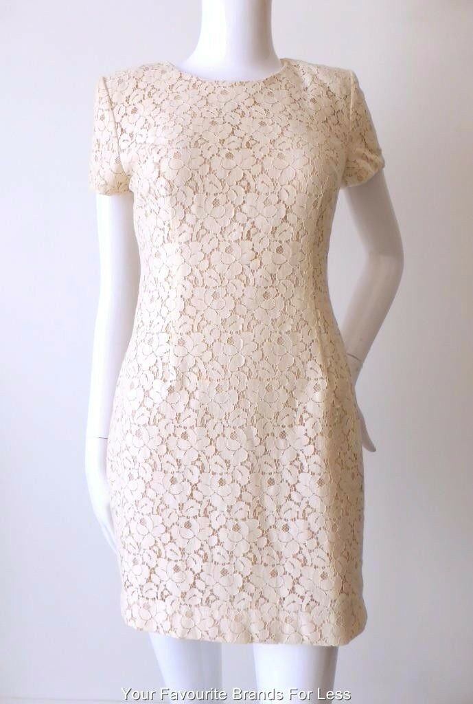 FRENCH CONNECTION - NEW  Größe 8 - 10 US 4 - 6  Dress Short Sleeve Lace Mini