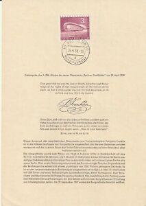 Germania 26 APRILE 1958 sala congressi Primo giorno di presentazione Card SHS