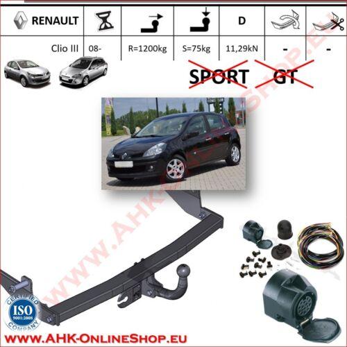 AHK ES13 Renault Clio III ab 2005 Schrägheck Anhängevorrichtung Anhängerkupplung