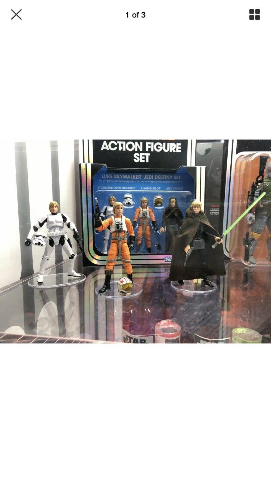 increíbles descuentos SDCC SDCC SDCC 2019 Hasbro Estrella Wars Vintage LUKE SKYWALKER Jedi Destiny Figura Set    Hay más marcas de productos de alta calidad.