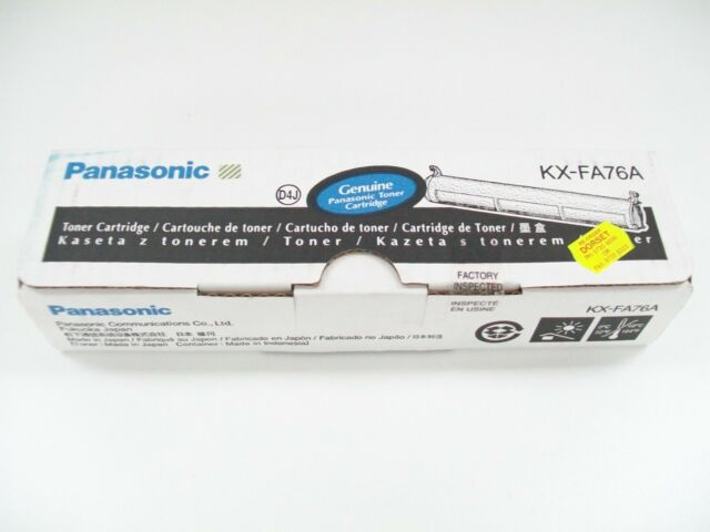 PANASONIC KX-FA76A GENUINE BLACK TONER CARTRIDGE KX-FL501 KX-FL502 KX-FL503