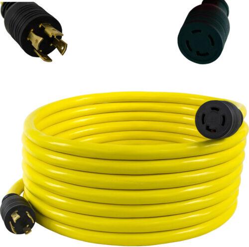 30 Amp 40 FT NEMA L14-30 4 Wire 10 Gauge 125//250V Generator Power Cord Adapter