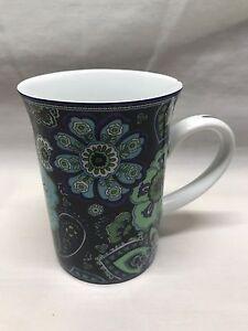 Barnes And Noble Vera Bradley Blue Rhapsody Coffee Tea Cup Mug | eBay