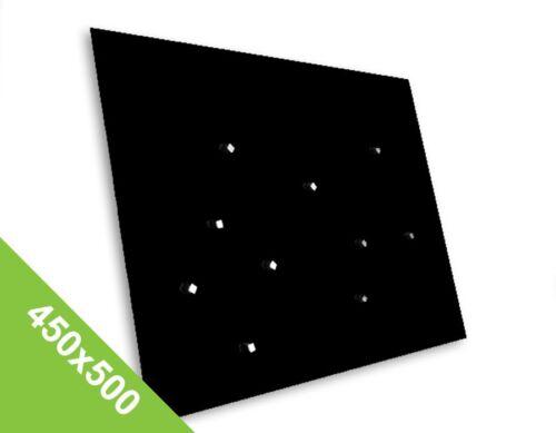 Glas Edles Magnetboard 450x500mm Schwarz