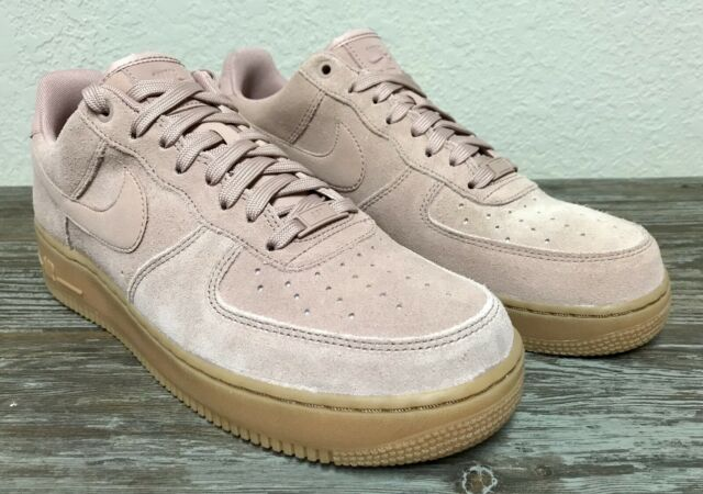 Nike Air Force 1 '07 LV8 Suede Light Pink Gum AA1117 600 Mens Size 10 11.5 Wmns