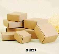 Kraft Paper Box Packing Cardboards Storage 50pcslot Diy Business Event Supplies