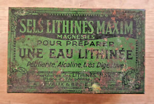 Ancienne-Boite-Pharmacie-Sels-Lithines-Maxim-Vintage-Collection-Deco