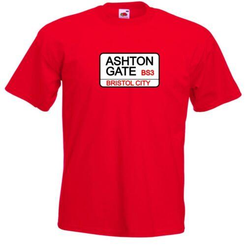 Kids Bristol City FC Ashton Gate Street Sign Football Club T-Shirt