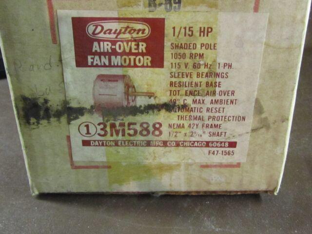 Dayton 3M588A 115 Volt 1/15 HP Electric Motor