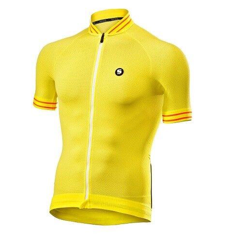 Maglia Maglietta Jersey T-shirt Bike Bici Ciclismo SIXS YELLOW WHITE CLIMA JERS.