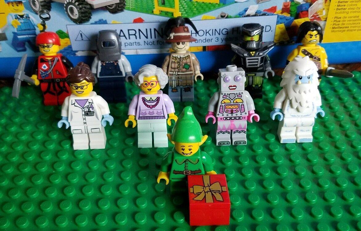 Lego 71002 serie 11 10 Minifigura Lote Elf Espantapájaros Yeti químico abuela Soldador