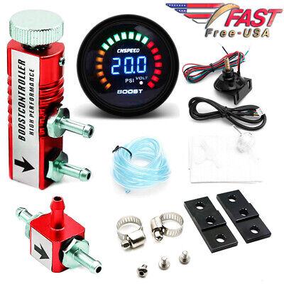 Manuelle Boost Controller Universal einstellbar Racing 30PSI Kit   Rot