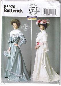 Historical victorian top skirt belt dress wedding sewing for Victorian style wedding dress pattern