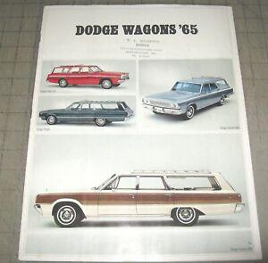 1965 DODGE WAGONS Maryland Car Dealer Color Brochure - Dart, Coronet + More