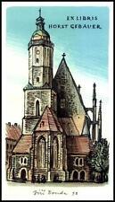 Bouda Jiri 1998 Exlibris L1 Bookplate Architecture Church Horst Gebauer s150