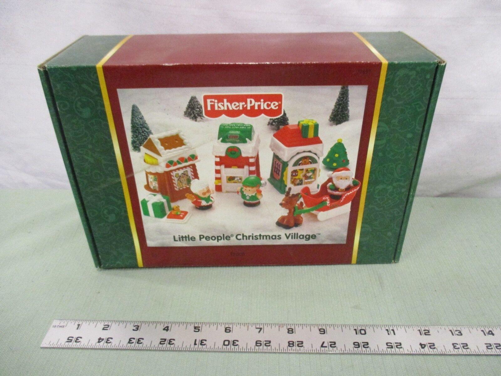 Fisher Price liten människor Jul New Santa Village presenterar släde Elf Mrs.