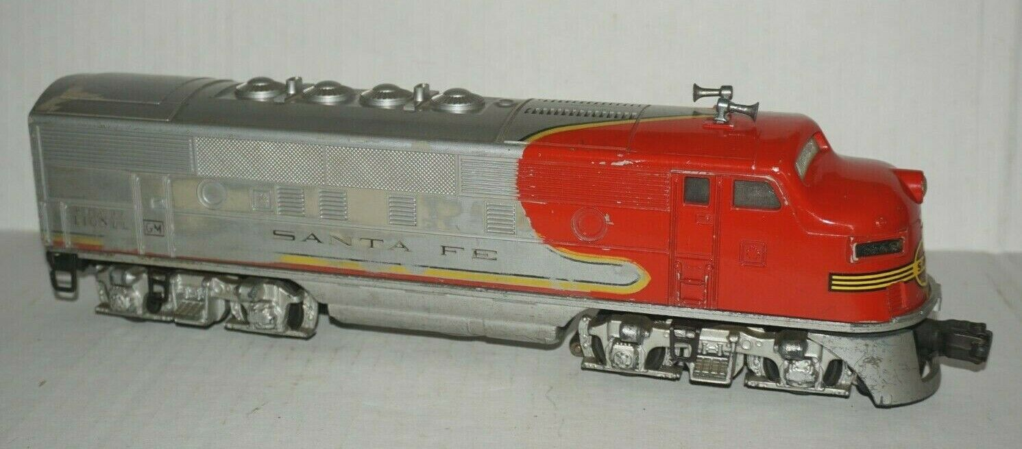 LIONEL POSTWAR 2243 2243 2243 SANTA FE F3 NON-POWErosso A-UNIT IN VERY GOOD CONDITION 9ebedc