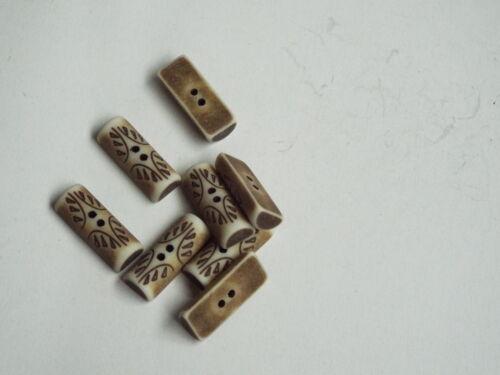 5pc 20mm faux aged sculpté os bascule bouton idéal pour duffle-coat 2361