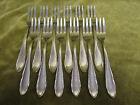 12 fourchettes à gateaux métal argenté WMF art deco volutes (pastry forks)