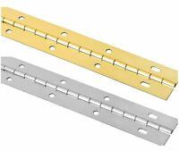 72 L X 1 1/2 W Slotted Piano Hinge (brass Or Chrome)