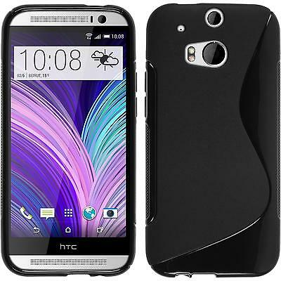 Silikon Hülle für HTC One M8 schwarz S-Style Case